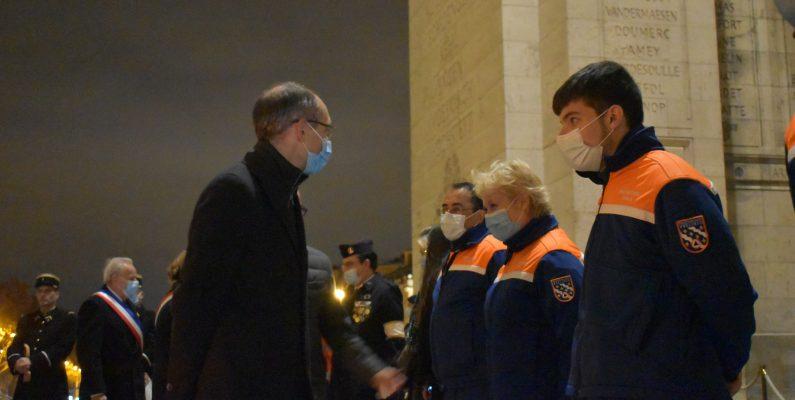 François RICHEZ, Président de Fédération Nationale de Protection Civile salue les bénévoles